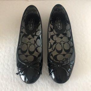Coach (#Q163) Lonnie patent leather Ballet Flats